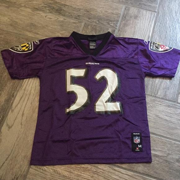 f1df35597 Reebok Baltimore Ravens Ray Lewis Jersey. M 5b4e42d84ab633f41a82e18a